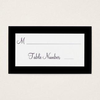 Twinkle Lights Wedding Place Cards (black)