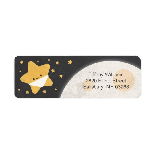 Twinkle Lil Star Baby Shower Return Address Labels