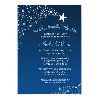 "Twinkle Little Shooting Star Baby Shower 5"" X 7"" Invitation Card"