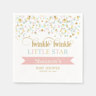Twinkle Little Star Baby Shower Any Color Paper Napkins