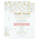 Twinkle Little Star Baby Shower Any Colour Card