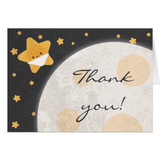 Twinkle Little Star Baby Shower Thank You Card