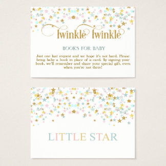 Twinkle Little Star Books for Baby Request Card
