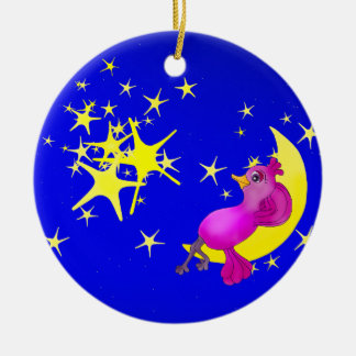 Twinkle Little Star by The Happy Juul Company Round Ceramic Decoration