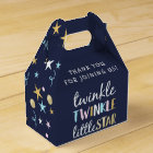 Twinkle Little Star Confetti & Blue Baby Shower Favour Box