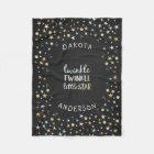 Twinkle Little Star Confetti & Chalk Baby Shower Fleece Blanket