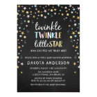 Twinkle Little Star Confetti & Chalk Baby Shower Magnetic Card