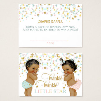 Twinkle Little Star Diaper Raffle African American Business Card