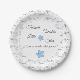 Twinkle Little Star Gender Reveal Baby Shower Paper Plate