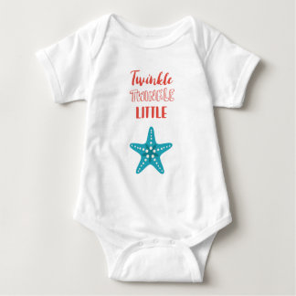 Twinkle Little Star Red & Blue Nautical Baby Bodysuit