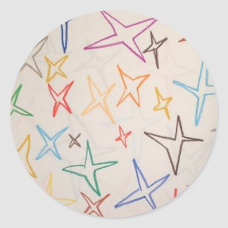 Twinkle Little Star Round Sticker