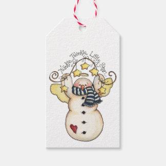 Twinkle Little Star Snowman Angel Gift Tags