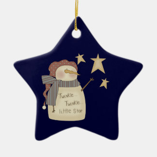 Twinkle Little Star Snowman Christmas Ornament