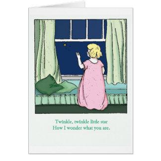 Twinkle Little Star Vintage Card