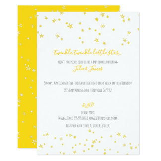 Twinkle Little Stars Baby Shower Invitations