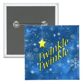 Twinkle Snowflake Button