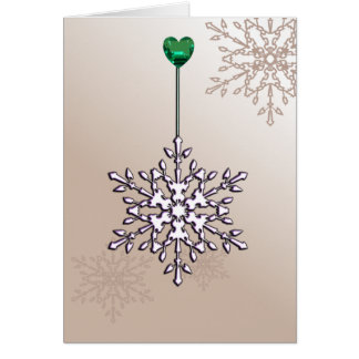 Twinkle snowflake, holiday design card