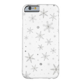 Twinkle Snowflake -Silver Grey & White- Barely There iPhone 6 Case