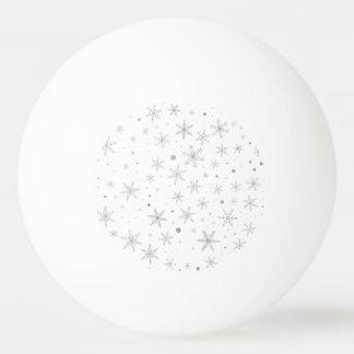Twinkle Snowflake -Silver Grey & White- Ping Pong Ball