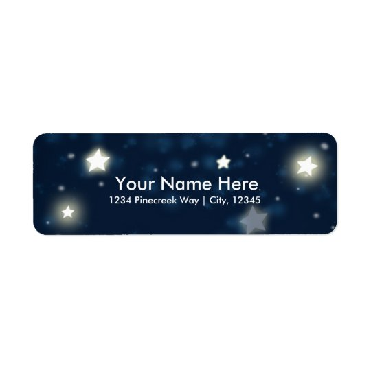 Twinkle Stars & Moon Celestial Sky Address Labels