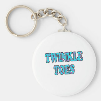 Twinkle Toes Basic Round Button Key Ring