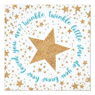 Twinkle Twinkle Boy Baby Shower Invitation