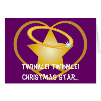 Twinkle Twinkle Christmas Star...-Customize Note Card
