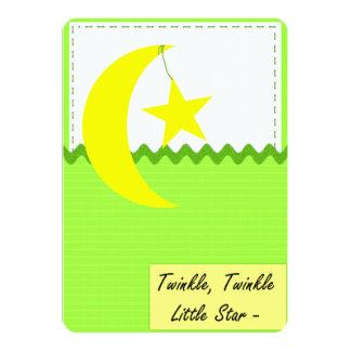 Twinkle Twinkle Little Star 13 Cm X 18 Cm Invitation Card