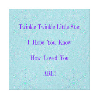 Twinkle Twinkle Little Star Baby Gifts Canvas Print