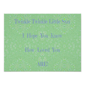 Twinkle Twinkle Little Star Baby Gifts Poster