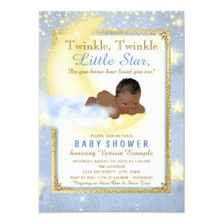 Twinkle Twinkle Little Star Baby Shower 11 Cm X 16 Cm Invitation Card
