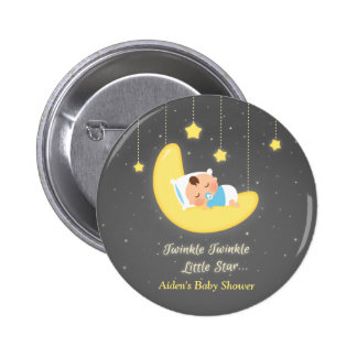 Twinkle Twinkle Little Star Baby Shower Favors 6 Cm Round Badge