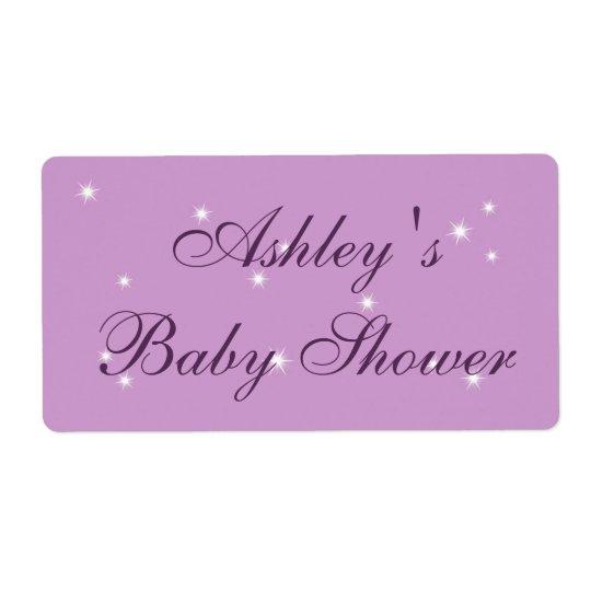 Twinkle Twinkle Little Star baby Shower Label Shipping Label