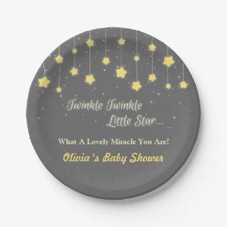Twinkle Twinkle Little Star Baby Shower Supplies 7 Inch Paper Plate