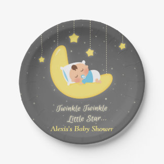 Twinkle Twinkle Little Star Baby Shower Supplies 7 Inch Paper Plate