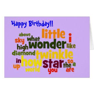 Twinkle, twinkle little star - birthday card