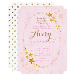 Twinkle Little Star Invitations Announcements Zazzlecomau