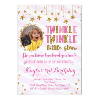 Twinkle Twinkle Little Star Birthday Invitation 2