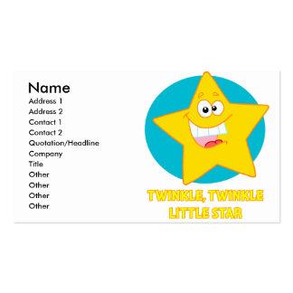 twinkle twinkle little star business card template