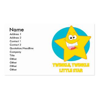 twinkle twinkle little star business card templates