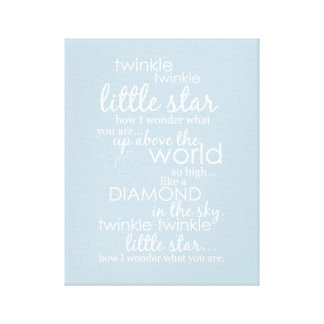 Twinkle Twinkle Little Star Stretched Canvas Print