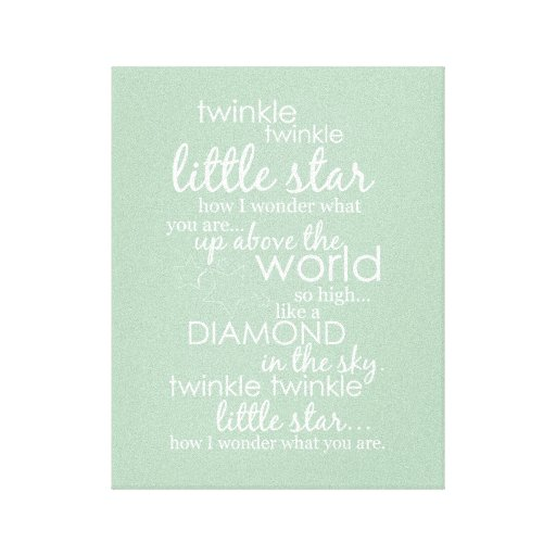 Twinkle Twinkle Little Star Gallery Wrapped Canvas