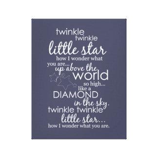 Twinkle Twinkle Little Star Canvas Prints