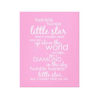 Twinkle Twinkle Little Star Gallery Wrapped Canvas
