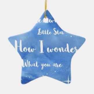Twinkle Twinkle Little Star Ceramic Ornament