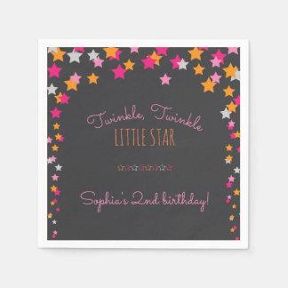 Twinkle Twinkle Little Star Chalkboard Birthday Paper Napkin