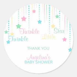 Twinkle Twinkle Little Star - Custom Baby Shower Round Sticker