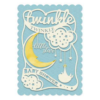 Twinkle Twinkle Little Star Cutout Invitation