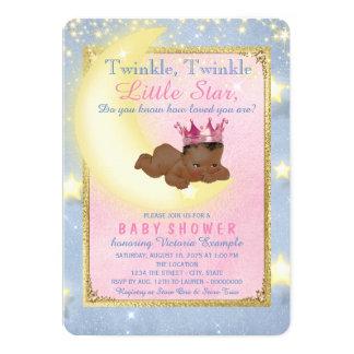 Twinkle Twinkle Little Star Ethnic Baby Shower 13 Cm X 18 Cm Invitation Card