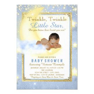 Twinkle Twinkle Little Star Ethnic Boy Baby Shower 13 Cm X 18 Cm Invitation Card